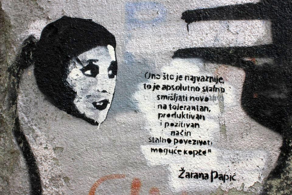 Žarana Papić mural.